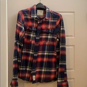 Abercrombie and Fitch slim fit plaid flannel